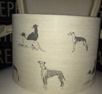 NEW HANDMADE LAMPSHADE LONG DOGS LINEN FABRIC BY EMILY BOND SMALL MEDIUM LARGE