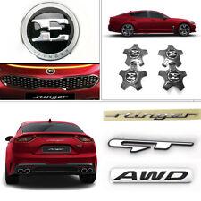 "[In Stock]OEM Front Rear GT AWD Emblem + 19"" Wheel Cap Set for Kia Stinger 17-18"