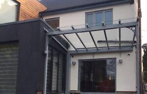 Veranda/garden structure/choice of colours/glass roof