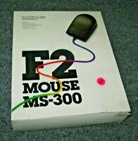 Black Vintage IBM PC Computer Serial Mouse F2 MOUSE MS-300 Microsoft DOS Windows