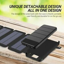 Solar Phone Charger Portable 10000mAh Battery Survival Emergency Kit