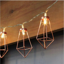 LED Rose Gold Water Drop Lantern Flashlight String Light Party Outdoor Decor