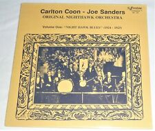 """STILL SEALED"" VINYL LP by CARLTON COON - JOE SANDERS ""NIGHT HAWK BLUES"" VOL. 1"