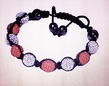 Beautiful brand new red and white disco ball crystal shamballa bracelet