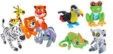 "9 24"" INFLATABLE ZOO ANIMALS LION, TIGER, GIRAFFE, ZEBRA, FROG, TOUCAN, ETC."