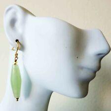 Vintage Chinese Pale Green Jade Turtle Earrings