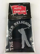 Golfer Auto Emblem (Chrome Car Decal)