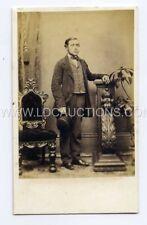 (Lc8183-461) RP Victorian CDV, Gentleman, Top Hat,  Savage, WINCHESTER
