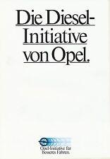 Opel Diesel-Initiative Prospekt 12/81 1981 Autoprospekt Broschüre brochure Auto