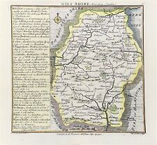 Antique MAP of WILTSHIRE c1742 by Badeslade & Toms Original copper engraved