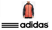 RRP - $ 85 Adidas Men's Sport Id Colorblocked Hooded Jacket in Amber Carbon