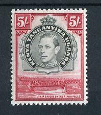 Kenya Uganda Tanganyika kgvi 1938-54 5s Nero E CARMINIO SG148b LMM