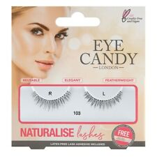 Eye Candy False Eyelashes Eye Styles Naturalise 103 + Adhesive Glue Long Thick