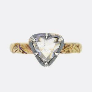 Georgian Style 18ct Yellow Gold Rose Cut Diamond Ring