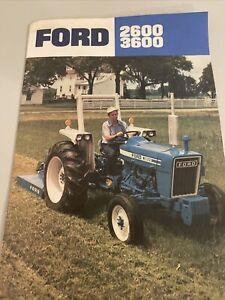 Vintage Ford Farm Tractor Brochure 2600 3600 Dealer Advertising Ephemera