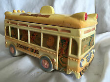 Collectible Vintage 1940's/50's Mother Goose Cookie Bus / Cookie Jar Japan