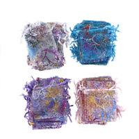 50Pcs/pack 7x9cm coralline Organza Jewelry Pouch Wedding Party Favor Gift Bag KI