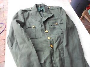 Army Green Class A uniform bundle shade 415, Vietnam era Coat, hat, two pair of