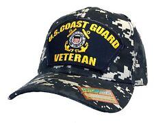 U.S. Coast Guard Veteran Hat Blue Digital Camo Ball Cap