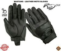 New MUSTANG Leather Ladies Mens CE Armour Motorbike Motocross Motorcycle Gloves