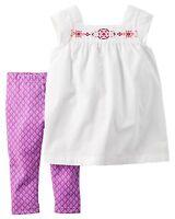 Carter's NWT 18M 24M 2T 3T Toddler Girl Top Tunic legging Set $28