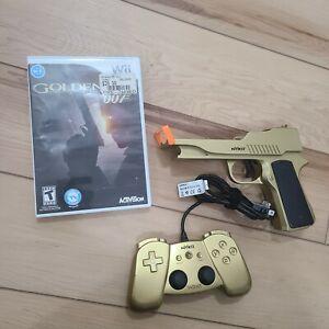 Golden Eye 007 (Nintendo Wii, 2010), Gold Nyko Wired Wing Controller & Gun