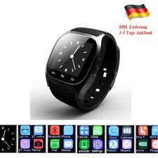 Bluetooth Smart Watch Uhr LED Alitmeter Schrittzähler Kamera Für Android IOS DHL