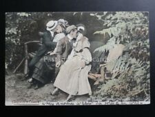 Couples Kissing on Park Bench Theme: CAUGHT BY THE CAMERA c1906