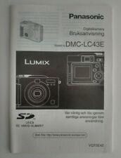 - Panasonic Bruksanvisning DMC-LC43E - Digitalkamera SE Svenska