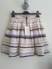 Antipodium PAPA WAS A RODEO Skirt. Fence Stripe. Silk/Cotton Mix. UK 8. RRP £165