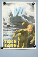 US Army Mai 1946 WW II Poster Take Care VD veneral disease Plakat Schiffers