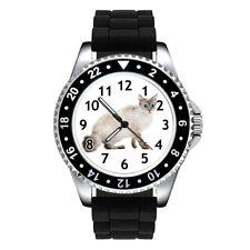 LaPerm Cat Kitten Unisex Mens Ladies Jelly Silicone Band Wrist Watch Se143