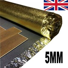 5mm Acoustic Underlay For Laminate & Wood Flooring - 4 Rolls + FREE VAPOUR TAPE!