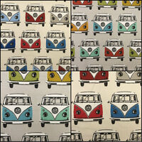 Ashley Wilde VW Campervan Roadtrip Cotton Designer Curtain Upholstery Fabric