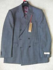 Wool Blend Check Two Button Suit Jackets for Men