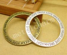 4/20/100pcs Lot Tibetan Silver DIY Round Jewelry Charm Pendant 36x36mm A886M