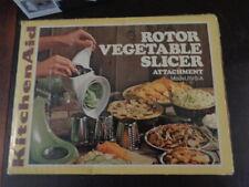 Vintage KitchenAid Hobart ROTOR SLICER SHREDDER Attachment RVS-A In Original Box