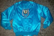 VINTAGE 80's WESTARK USA Satin Snap Turquoise Jacket JUST FOR KICKS BAKERSFIELD