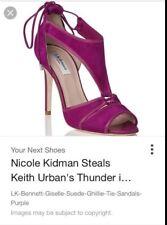 L.K. Bennett Giselle Sandals UK 5 38 Suede Heels Purple Nicole Kidman