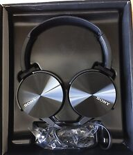 Sony MDR-XB450AP Extra Bass Smartphone Stereo Headphones - Genuine - BLACK -NEW