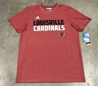 Adidas ClimaCool Aeroknit Louisville Cardinals SS Shirt Red White SZ NEW!!
