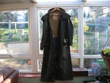 WAX RIDING STOCKMAN TRENCH COAT  BROWN XL