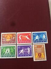 Poland Stamps 1963 Mnh World Fencing Championship In Gdanskj