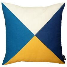 Modern Geometric Cushion Mustard Yellow Navy Blue Pillow Sofa Cover 45cm 18in