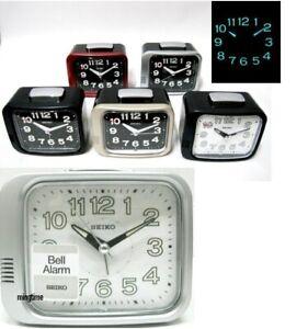 Seiko QHK028 Luminous Bedside [ very LOUD ] BELL Alarm Sweep quiet Seconds Clock