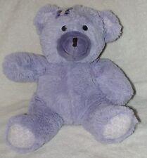 Nojo Plush Purple Teddy Bear Lavender Butterfly Soft Stuffed Toy