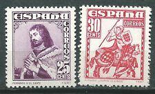 ESPAÑA SPAIN  Edifil # 1033/1034 ** MNH Rey Fernando y Almirante Bonifaz