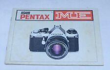 Asahi Pentax Me Camera Guide Owners Manual Instruction Photography Book