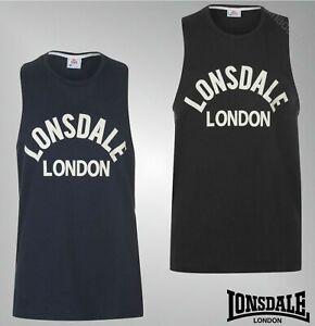 Lonsdale Boxing Vest Top Ärmelloses T-Shirt Herren Tank Sportshirt Tshirt 2249