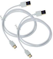 2X USB Typ C Datenkabel USB-C Aufladegerät Lader in Weiss für Huawei P30 Lite